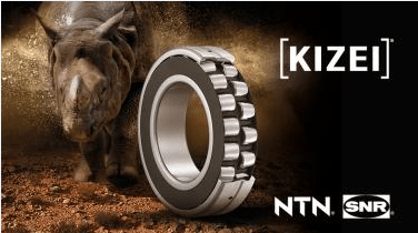 KIZEI®, the first spherical roller bearing with metallic shields. Armoured to face the dirt!